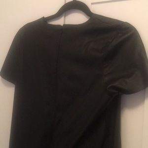 Topshop Dresses - Leather looking loose dress